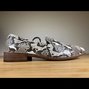 """Madewell """"The Frances"""" Loafer In Stamped Snake 7.5"""